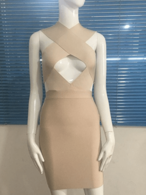 The A Aaavalayne Bandage Dress