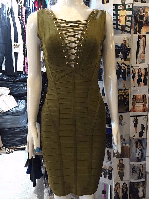 The A Aabaey Bandage Dress