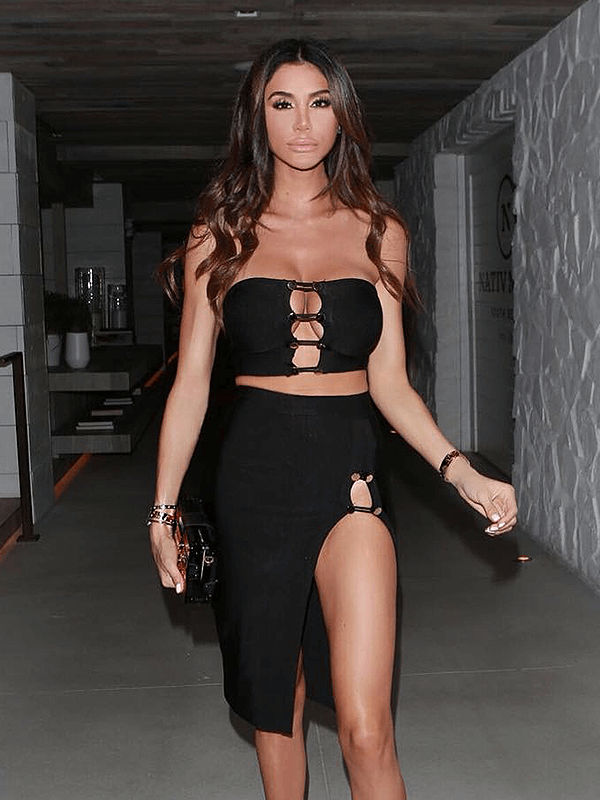 The A Aacabee Bandage Dress