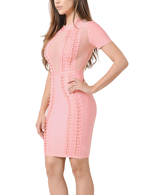 The A Aamorgan Turtle Neck Bandage Dress