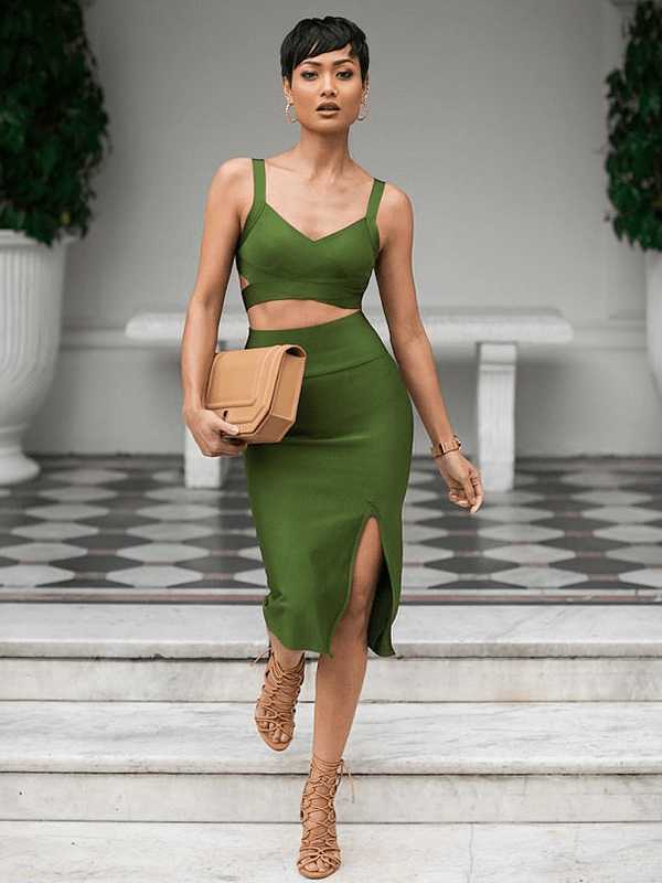 The High Flyer 2 Piece Set Bandage Dress